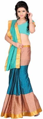 Harsh Sarees Checkered Venkatagiri Cotton Sari