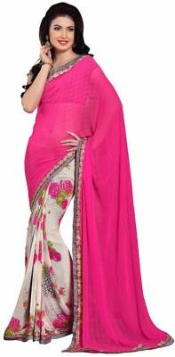 Ethnicway Printed Daily Wear Chiffon Sari