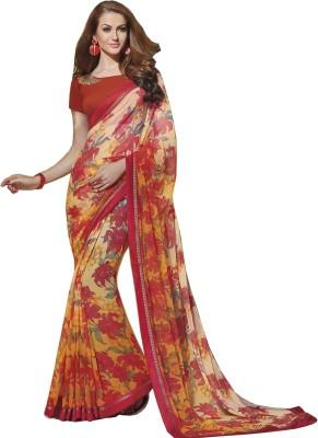 NKMChic Printed Fashion Chiffon Sari