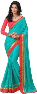 Rajesh Silk Mills Printed Fashion Poly Silk Sari