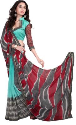 Deepanjali Prints Floral Print Bollywood Chiffon Sari