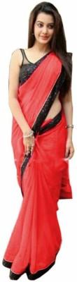 PRN Plain Bollywood Georgette Sari