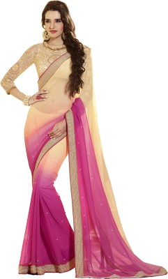 Bhavi Self Design Fashion Georgette Sari