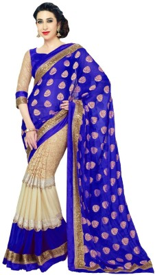Alankar Creations Embriodered Bollywood Pure Georgette Sari