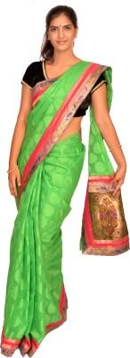 Jagadamba Self Design Fashion Brasso Sari