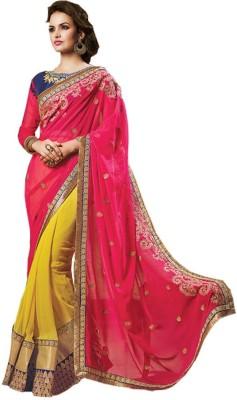 Leemboodi Embriodered Fashion Pure Silk Sari