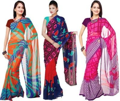 Sukuma Printed Daily Wear Georgette Sari
