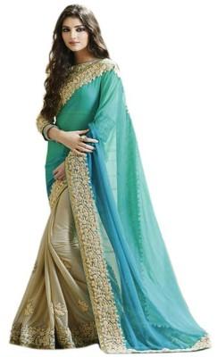 AahnaFashion Self Design Bollywood Chiffon Sari