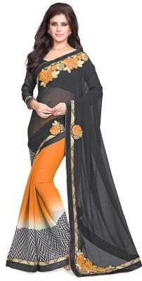 Sourbh Sarees Embriodered Bollywood Chiffon Sari