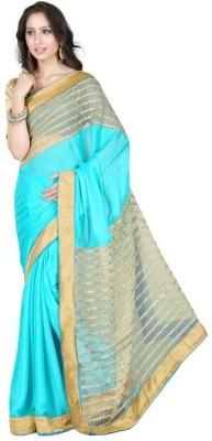 KESHUBHAI Plain Fashion Net Sari