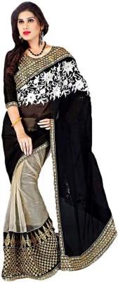 Sixmeter Striped Fashion Georgette Sari