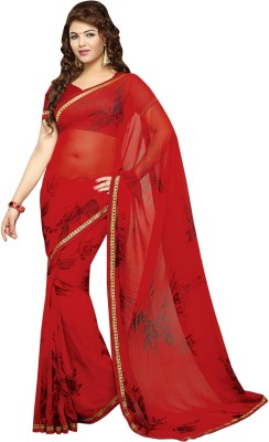 Vibes Printed Fashion Synthetic Georgette Sari
