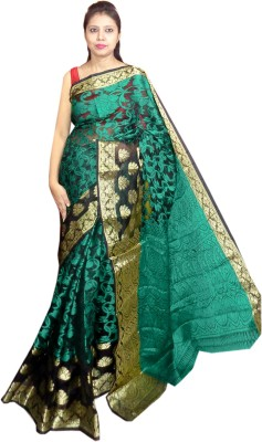 Tyra Sarees Self Design Fashion Jacquard Sari