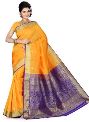 Ishin Self Design Fashion Art Silk Sari