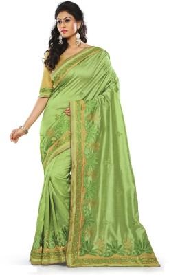 Chhabra Bros Embriodered Fashion Handloom Silk Sari