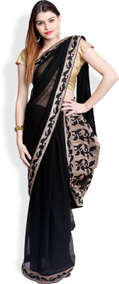 Utsava Graphic Print Bollywood Chiffon Sari