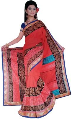 Vivah Embellished, Printed Bollywood Cotton, Silk Sari