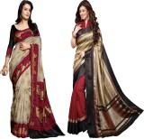 Glory Sarees Printed Bhagalpuri Art Silk...