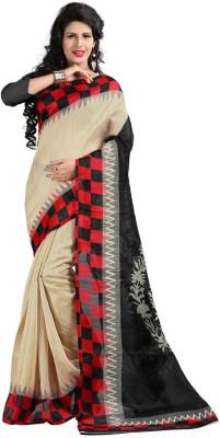 Ronaksilk Printed Bhagalpuri Cotton Sari