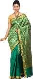 Tusk Printed Kanjivaram Silk Saree (Gree...