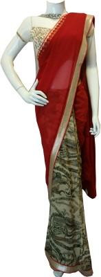 BEAUVILLE VAIIBAVAM Printed Fashion Pure Chiffon, Georgette Sari