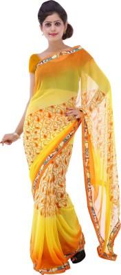 Lado Fashion Square Printed Fashion Georgette Sari