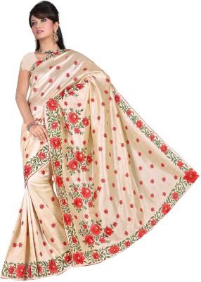 Samarth Fab Embriodered Bhagalpuri Art Silk Sari
