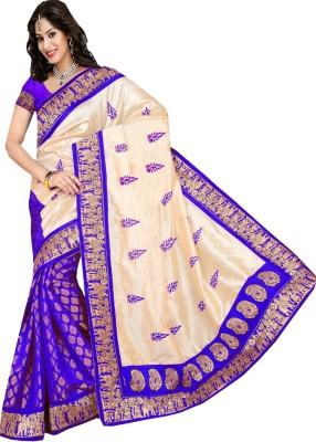 Lolla Fashion Embriodered Bhagalpuri Silk Sari