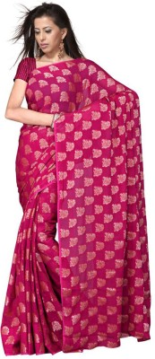 Great Art Floral Print Fashion Georgette Sari