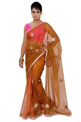 Vibhuti Sarees Self Design Fashion Net Sari