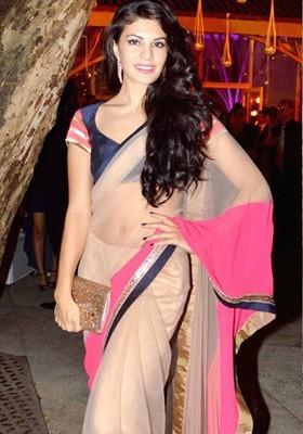 Ruaab Fashion Solid Fashion Brocade Sari