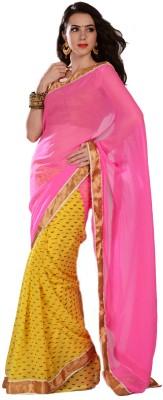 Aarohii Self Design Bollywood Georgette Sari