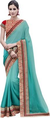 Fabviva Embriodered Fashion Satin Sari