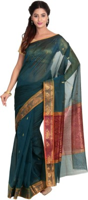 Pratamika Floral Print Fashion Handloom Cotton Sari
