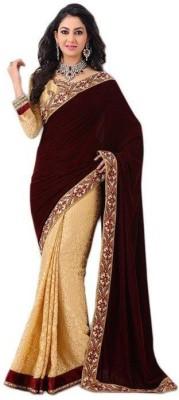 Pratham Fashion World Embriodered Fashion Net, Brasso Sari