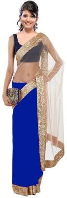 Thavki Creation Embriodered Bollywood Georgette, Net Sari