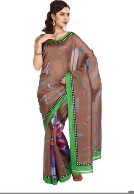 Aaboli Printed Fashion Synthetic Sari