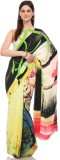 Sisel Printed Fashion Pure Crepe Sari (M...