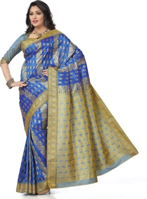 Arjuns Solid, Woven Kanjivaram Art Silk Sari