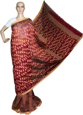 Prateeti Self Design Fashion Handloom Cotton Sari