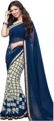 ViveraFashion Solid Bollywood Georgette Sari