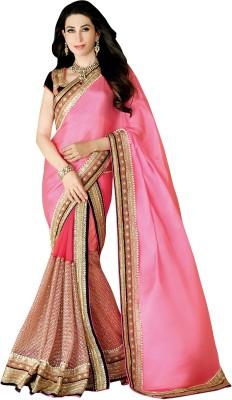 Hitansh Fashion Embriodered Fashion Net, Chiffon Sari