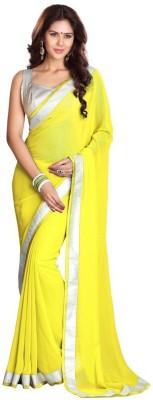 Amar Enterprise Plain Daily Wear Chiffon Sari