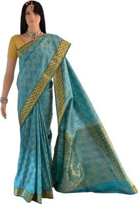 Lakshmi Lifestyle Kanchipuram Silks Woven, Self Design Kanjivaram Handloom Silk Sari