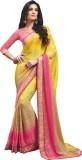 Vishal Self Design Bollywood Chiffon Sar...