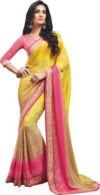 Vishal Prints Self Design Bollywood Chiffon Sari