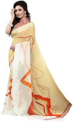 Waahdil Fashion Striped Bollywood Georgette Sari