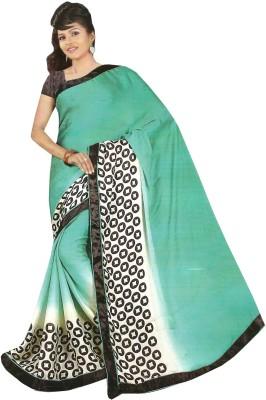 Swaman Graphic Print Fashion Crepe Sari