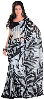 Swaranjali Floral Print, Self Design, Printed Bollywood Cotton Sari