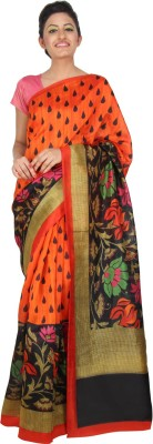 Yomeeto Printed Daily Wear Art Silk Sari